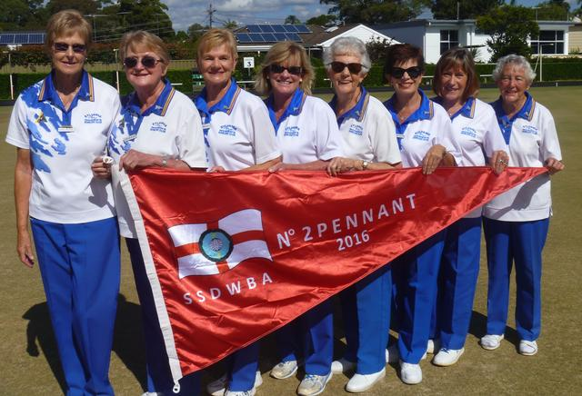 2016 SOUTH SYDNEY WOMEN'S BOWLING ASSOCIATION GRADE 2 ZONE CHAMPIONS. A.Giezekamp,L Brown,L Allen, D Adams, E Dennis, M Collins, K Makin, S Power